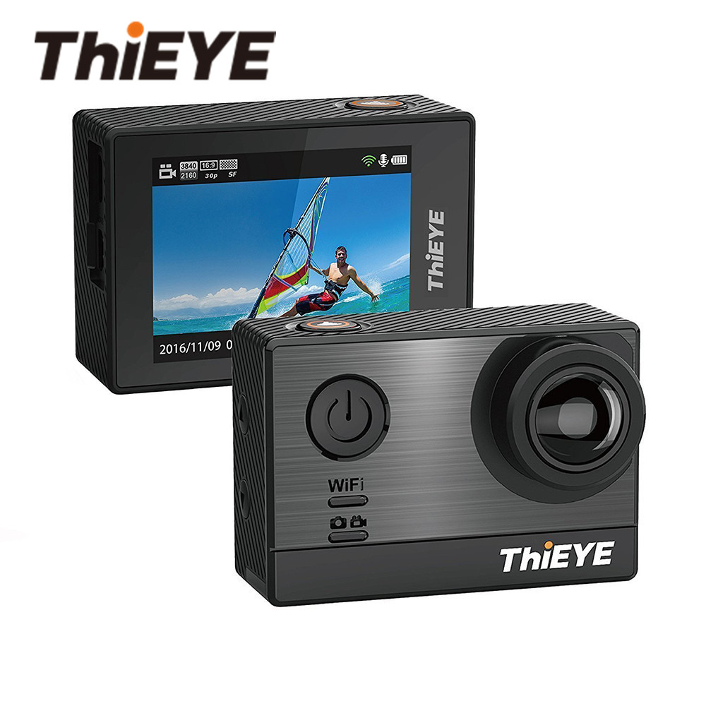 D'origine ThiEYE T5e 1440 P/60fps 1080 P/120fps Ultra HD 2.0 ''WIFI 4 k caméra d'action Étanche sport Caméra DV De Voiture Greffier