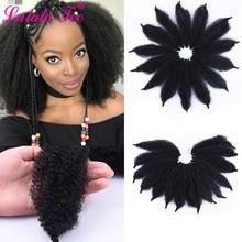 8 дюймов афро марли коса волос Мягкие кудрявые твист волосы крючком синтетические косички волосы для наращивания Высокая температура волокна для женщин