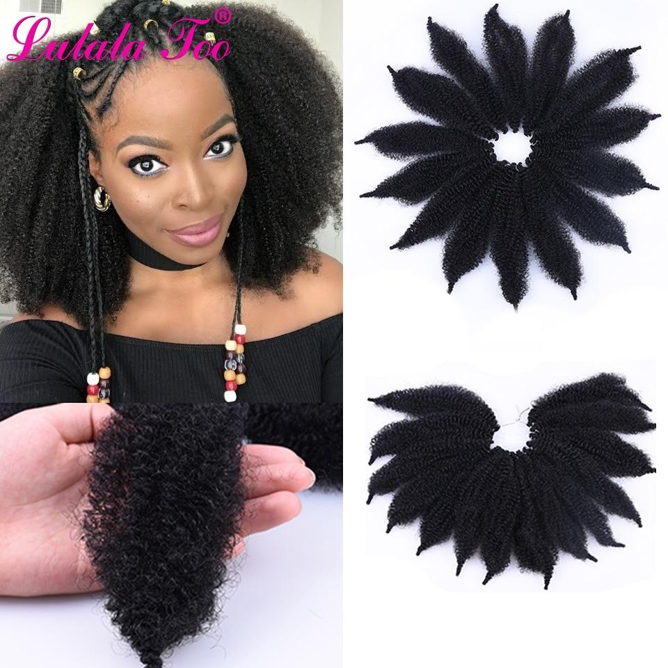 8'' Afro Marley Braid Hair Soft Kinky Twist Hair Crochet Synthetic Braiding Hair Extensions High Temperature Fiber For Woman