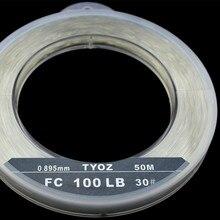 TYOZ Brand NO.40# 132LB 100% fluorocarbon fishing line Carbon Fiber Leader Line Sea Fishing Line