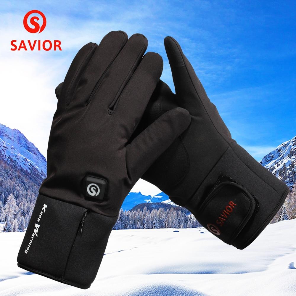 Gants thermiques électriques chauffés à la main d'hiver gants chauffants à batterie Rechargeable pour cyclisme moto vélo gants de Ski unisexe