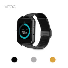VITOG Z60 Bluetooth Smart Watch Phone Men Women High Quality Battery Wristband 2G Support SIM TF Card Camera for Android Iphone(China)