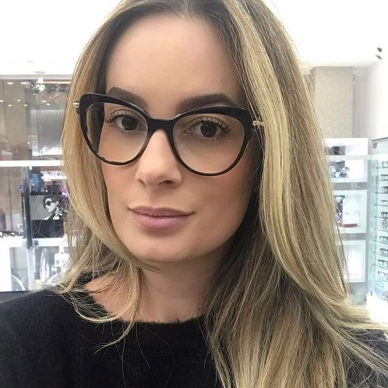 Women Metal Legs Designer Optical Eyeglasses Prescription Acetate Rim Spectacles for Women Glasses Frame Fashion Styles