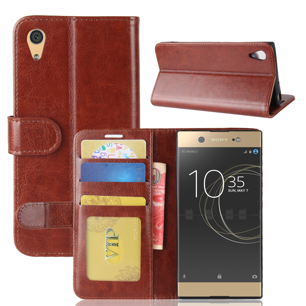 XA1 Case for Sony Xperia XA1 G3116 Cases Wallet Card Stent Book Style Flip Leather Covers Protect Cover black G 3116 Sony3116