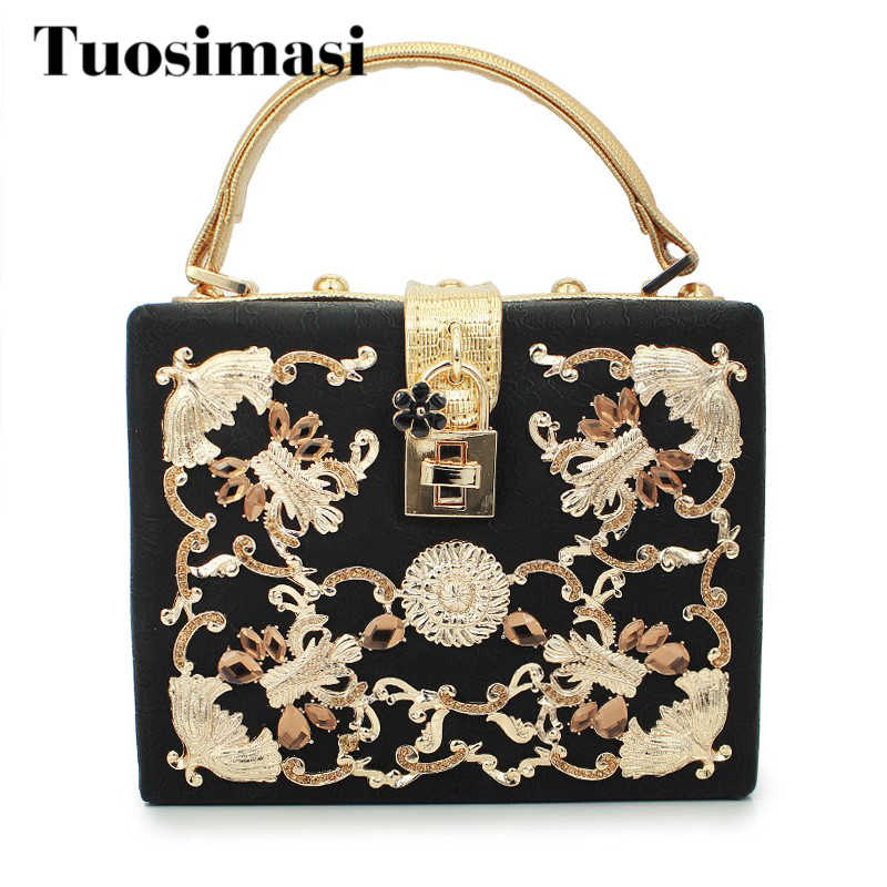 Золото бриллиант голосования замок роскошный клатч, сумка для выхода клатч для вечеринок женская сумка (C028)