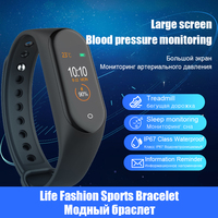 men waterproof M4 Smart Bracelet Waterproof Heart Rate Monitor Smart Band Blood Pressure Fitness Tracker Sport Watch Men Women mi band 4 (3)