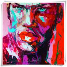 Palette knife painting portrait Palette knife Face Oil painting Impasto figure on canvas Hand painted Francoise Nielly 23