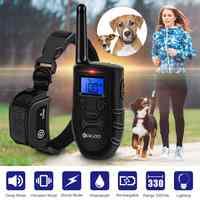 Digoo DG-PPT1 collier de chien électronique Rechargeable formation de chien bip/Vibration/Stimulation statique arrêter d'aboyer 330 ans toutes les tailles