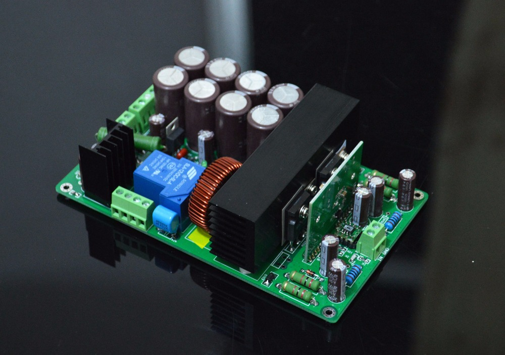 HIFI IRS2092 1000W high-power single-channel digital amplifier board fever fever class single channel lm3886tf power amplifier board finished board can be parallel to the classic circuit