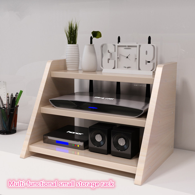 Free Shipping Small Household Multifunctional Small Desktop Storage Rack  Shelf Router Box