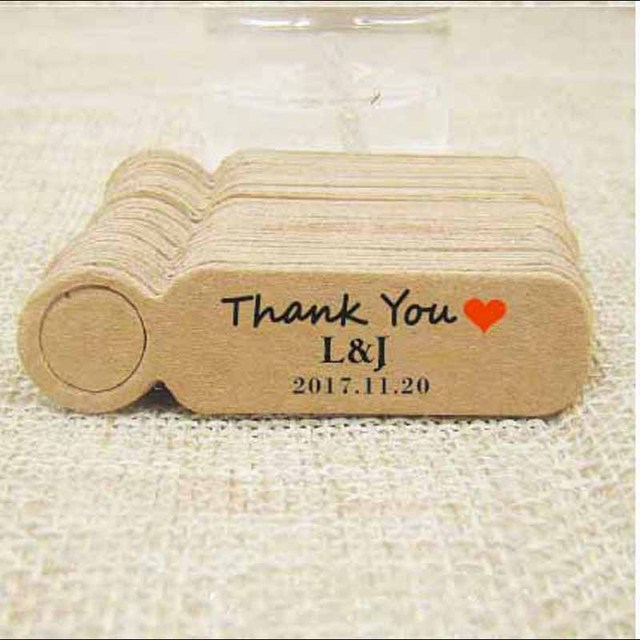 Aliexpress.com : Buy Custom logo cute wedding gift tag cardboard ...