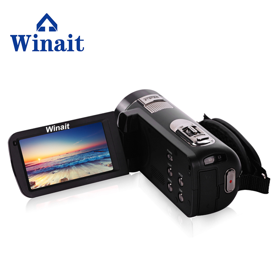 1080P Full HD Digital Video Camera Camcorder with Digital Rotation LCD Touch Screen 24M Support Face Detection