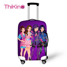Thikin Descendants Travel Luggage Cover for Girls Cartoon School Trunk Suitcase Protective Bag Protector Jacket