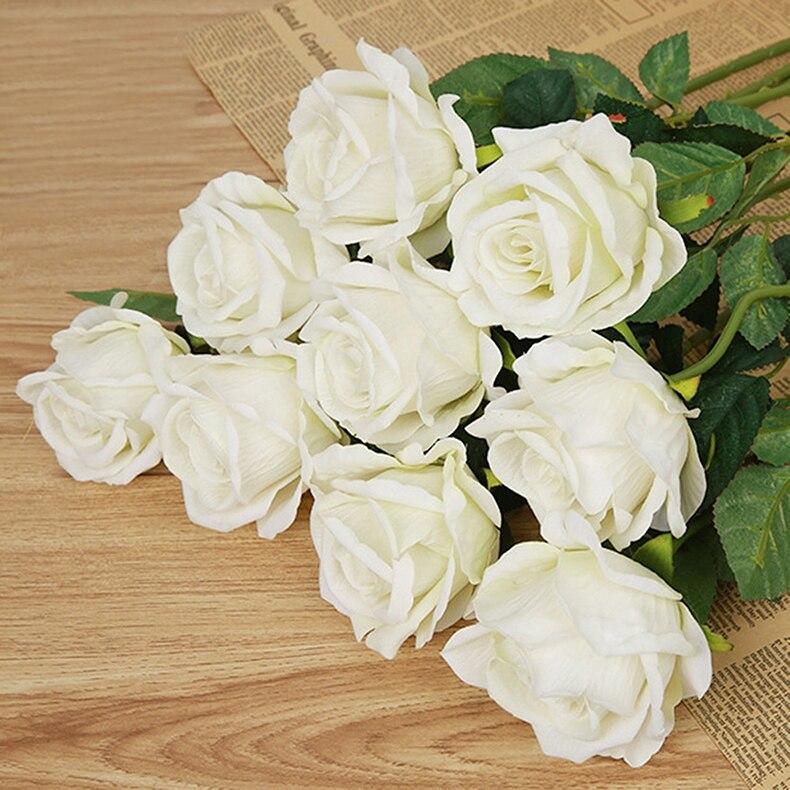 Artificial Rose Bouquet Flores Do Casamento Rosa Branca Vermelho Thai Real  Subiu Flores De Seda Decoração De Casa Festa De Casamento Decoração Em ...