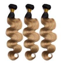 Alibele cabelo ombre pacotes de cabelo onda do corpo borgonha vermelho verde azul loira pré colorido feixes de cabelo humano remy extensões de cabelo