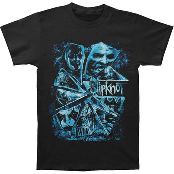 Slipknot Men's Shattered Glass 2015 Tour T-shirt Large Black T-Shirt Summer Novelty Cartoon T Shirt High Quality Casual