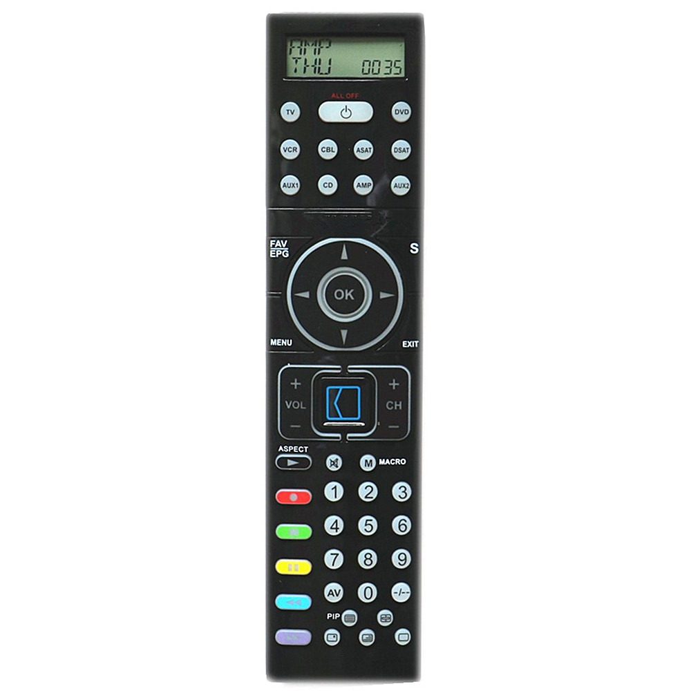 Universal remote control for SILVERCREST KH2157 With Back Light And LED TV/DVD/VCR/CBL/ASAT/DSAT/AUX1/CD/AMP/AUX2 kitivr39404unv75606 value kit innovera cd dvd envelopes with clear window ivr39404 and universal correction tape with two way dispenser unv75606