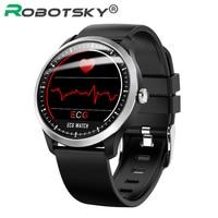N58 ECG Smart Watch support Electrocardiogram Measurement 3D UI Multisport Fitness Tracker Smartwatch free black Silican Strap