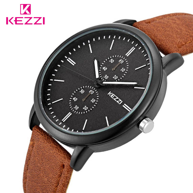 KEZZI Brand Reloj Hombre Fashion Sports Mens Watches Brand Luxury Students Quartz Leather Watch Man Gift Clock Relogio Masculino new listing men watch luxury brand watches quartz clock fashion leather belts watch cheap sports wristwatch relogio male gift
