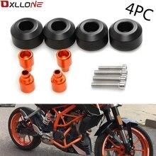 цены For KTM DUKE 390  DUKE 250 DUKE 125 DUKE 200 RC 200 4PC Motorcycle Frame Sliders Screw Crash Pad Cover Falling Protector Guard