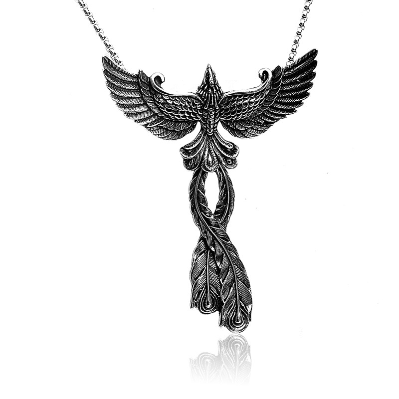 316L pendant necklace Punk style stainless steel Necklace 3D Phoenix Pendant Necklace men and women Rock Hip Hop jewelry