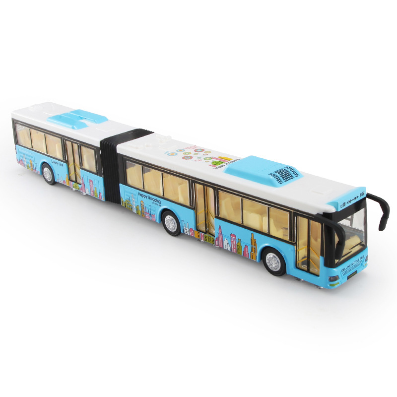 35Cm Long Bus Toy ,Alloy Double Bus 4 Colors Open Doors Lights& Sound Function Public Transport предупреждающий знак public transport facilities 60cm