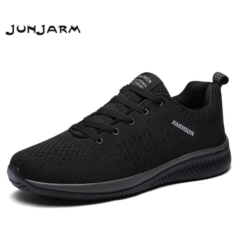 3fb8ac46 Cheap JUNJARM nuevos Zapatos casuales de malla para Hombre Zapatos de  encaje para ligeros cómodos transpirables