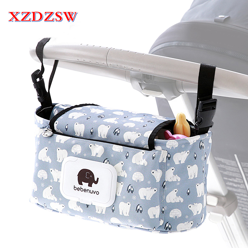12 Color Stroller Accessories Bag Cup Organizer Baby Stroller Trolley Bottle Car Packing ...