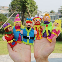 6PCS Cute Cartoon Wooden Fairy Tale Character Hand Fantoches Plush Toys Child Baby Favor Dolls Boys Girls Hand Puppets Gift Toys baby toys 16pcs large cartoon farm city character dress string rope wooden toys child educational beads toys birthday gift