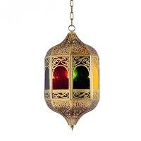 Arabia copper lamp diffuse coffee Pendant Lights copper lamp Islamic style Southeast Asia entrance lobby bar positive LU727280