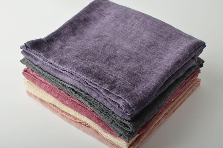 Nouveau coton uni musulman longue écharpe, plaine coton hijab, tie dye  écharpe, châles wraps, muffler Musulman, coton châle, ponchos et capes 4394a689f10