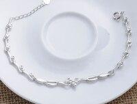 Korean jewelry wild fashion happiness love bracelet 925 silver women bracelet silver jewelry hand chain (NM/NS)