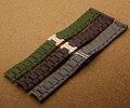 Reemplazo nuevo correas correas de reloj para marca relojes moda hombres pulseras marrón verde gris 20 mm 23 mm hebilla de mariposa broche