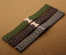 Замена новые ремни ремешки для бренда мода часы мужчины браслеты коричневый зеленый серый 20 мм 23 мм бабочка застежка