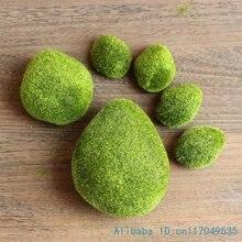1 упаковка Искусственный мох пенка, камень зеленый растение для украшения дома F340