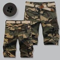 מכנסיים קצרים בקיץ טקטי Mens מכנסי הסוואה צבאי עירוני זיעה Pantalon מכנסי כותנה מכנסיים קצרים מטען Hombre מקרית בגדי צבא
