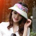2016 de Las Mujeres de gran ala del sombrero del Sol con el Mantón UV envolvente para deportes al aire libre de secado rápido senderismo ciclismo pesca sombrero de playa B-2273