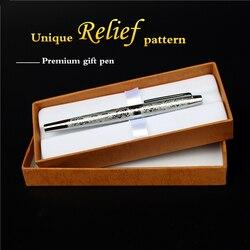 النبيل نافورة القلم جيد الجوده الفضة مباراة الرجعية الأعمال اجتماع الفاخرة أقلام الحبر هدية للأصدقاء و الزملاء شحن السفينة