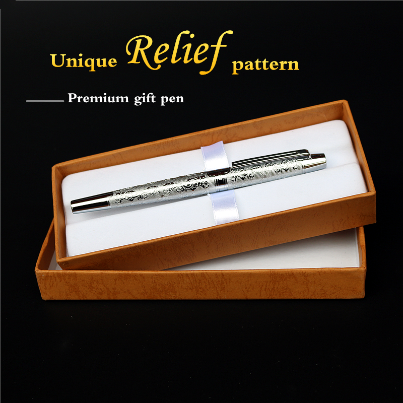 Noble fountain pen good qualit Silver Match Retro business meeting  luxurious ink pens gift for friends and colleagues free ship kaigelu extreme series premium fountain pen ink pen business gift pen