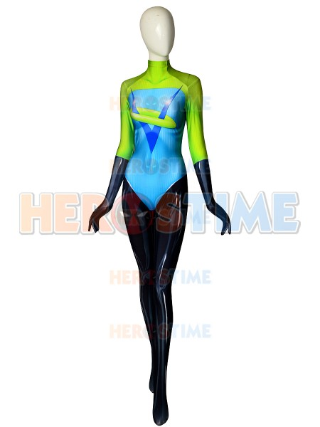 Custom Made Incredibles 2 Costume Spandex Printed Female the incredibles cosplay costume Halloween Cosplay Party Bodysuit