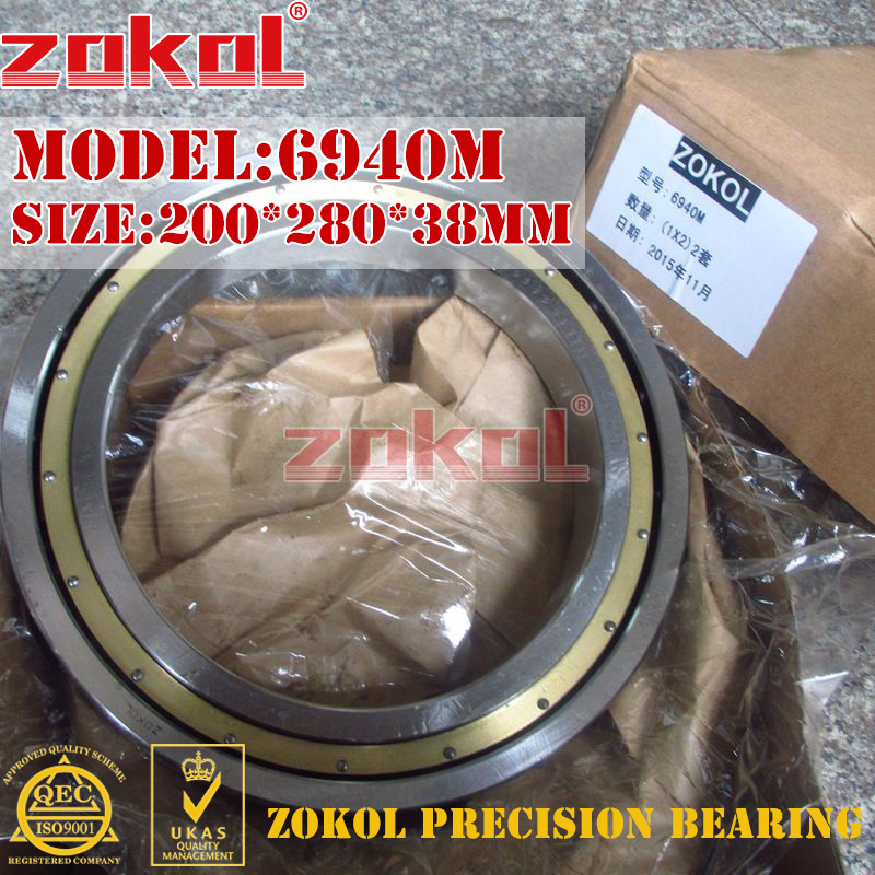 ZOKOL 6940 M bearing 6940M (61940M) 1000940H Deep Groove ball bearing 200*280*38mm mantra светильник на штанге habana 5301 5302