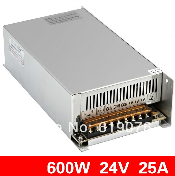 600W  24V Single Output Switching power supply for  FSDY  AC to DC led S-600-24 1200w 12v 100a adjustable 220v input single output switching power supply for led strip light ac to dc