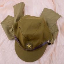 Chapeau de soldat de l'armée japonaise, vert, laine d'officier sur le terrain, casquette de Costume militaire, accessoire pour hommes, seconde guerre mondiale, WW2