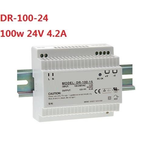 100W Single Output Industrial DIN Rail Power Supply DR-100-24 Single Output 100w 24V 4.2A power source power supply