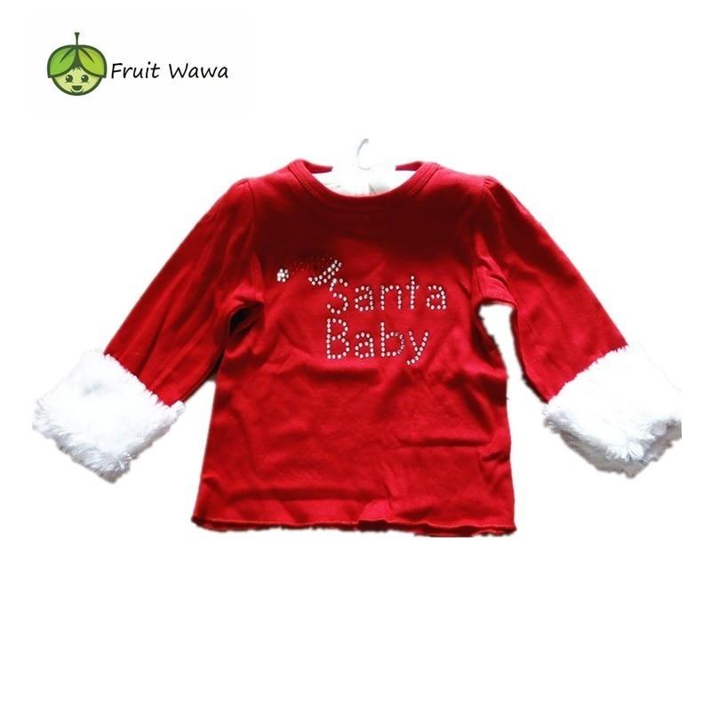 Baby Girl Clothes Santa Holiday Baby T-shirt Christmas Tee baby T-shirt girls T-shirt Santa Gift Christmas wear