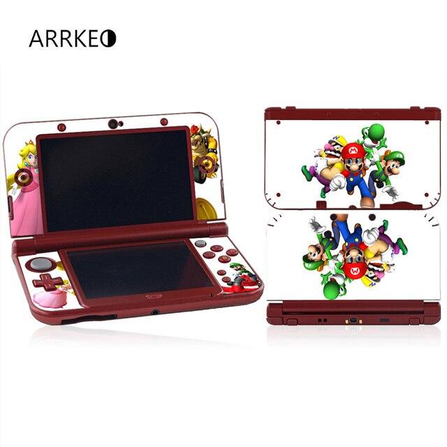 ARRKEO Super Mario U0026 Luigi Bros Vinyle Cover Decal Peau Autocollant Pour  Nintendo New 3DS XL