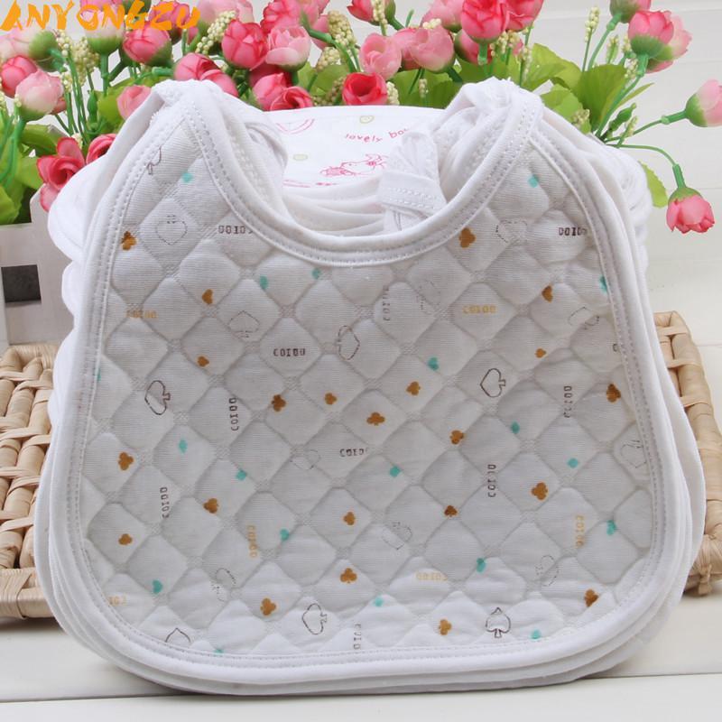 30PCS Anyongzu Unisex 21*20CM Newborn Baby Bib Slobber Napkins Wholesale Cotton Waterproof Bag Rice Children