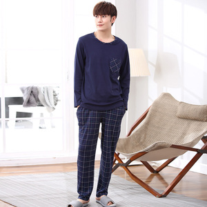 Image 5 - Yidanna long sleeve pijama cotton pajamas set for male plus size sleep clothing casual nightie sleepwear men pyjamas suit autumn