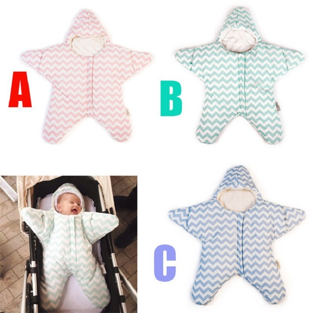 2017 Newborn Starfish Sleeping Bag Winter Warm Stroller Bed Swaddle Blanket Wrap Bedding Cute Baby Sleeping Bag