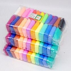 36 cores/Set Fofo Brinquedos Slime Putty Argila Do Polímero Macio Antistress Argila Luz Plasticina Lodo Suprimentos Areia Fidget Goma para as crianças